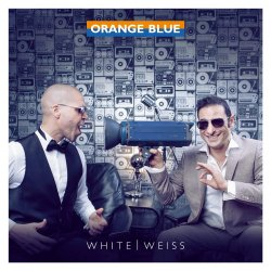White - Weiß - Orange Blue